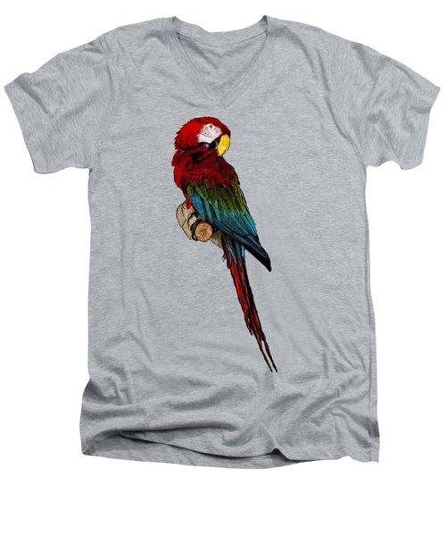 Parrot Art Men's V-Neck T-Shirt