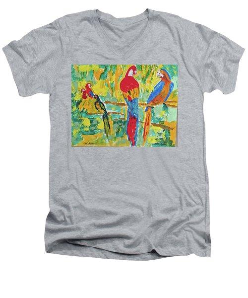 Parrots Men's V-Neck T-Shirt