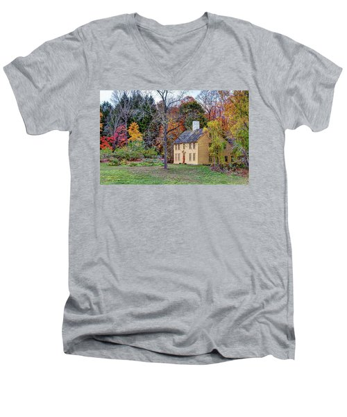 Parson Barnard House In Autumn Men's V-Neck T-Shirt