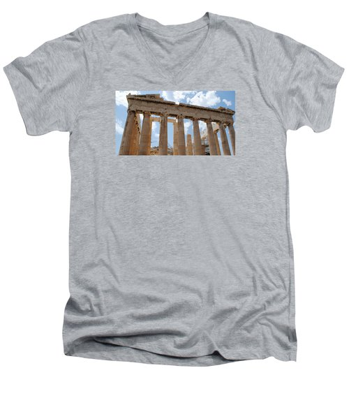 Men's V-Neck T-Shirt featuring the photograph Parthenon by Robert Moss