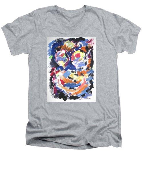 Partial Blackout Men's V-Neck T-Shirt
