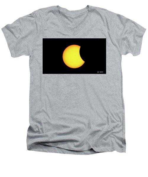 Partial Eclipse 1 Men's V-Neck T-Shirt