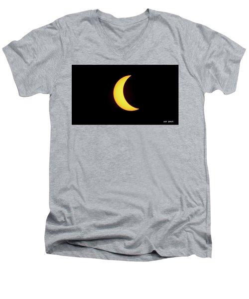Partial Eclipse 4 Men's V-Neck T-Shirt