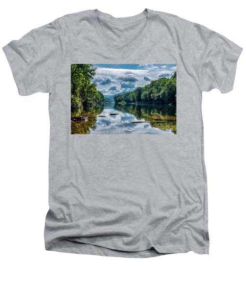 Partially Cloudy Gauley River Men's V-Neck T-Shirt