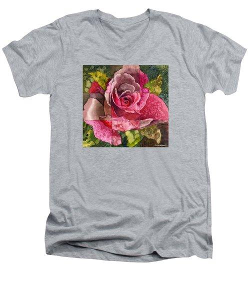 Partitioned Rose IIi Men's V-Neck T-Shirt