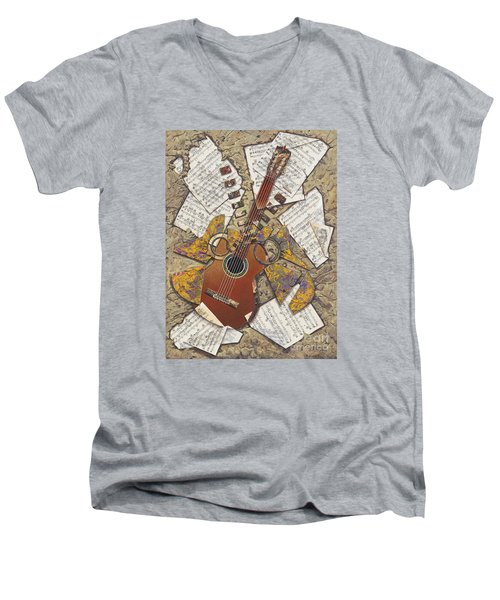Partituras Men's V-Neck T-Shirt