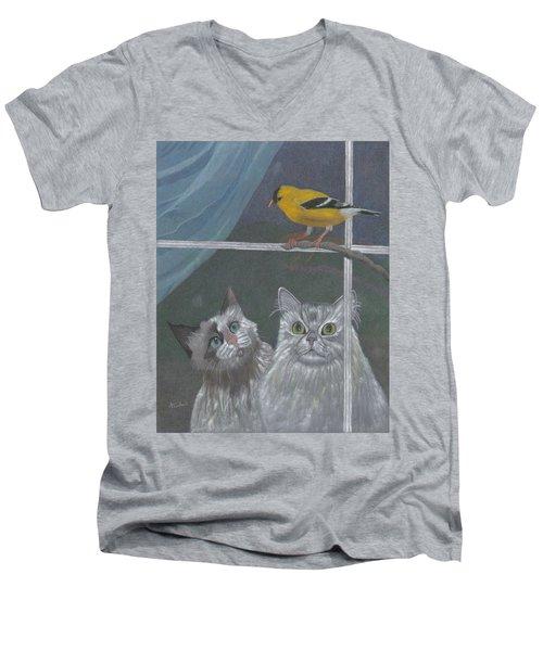 Partners In Crime Men's V-Neck T-Shirt by Arlene Crafton
