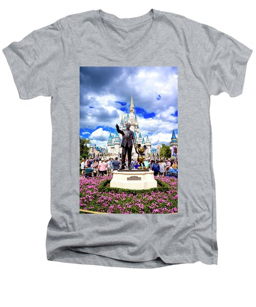 Men's V-Neck T-Shirt featuring the photograph Partners Two by Greg Fortier