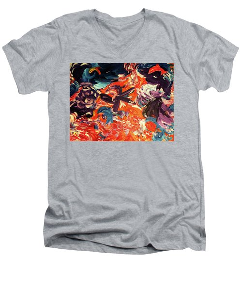 Party In A Parallel Reality Men's V-Neck T-Shirt