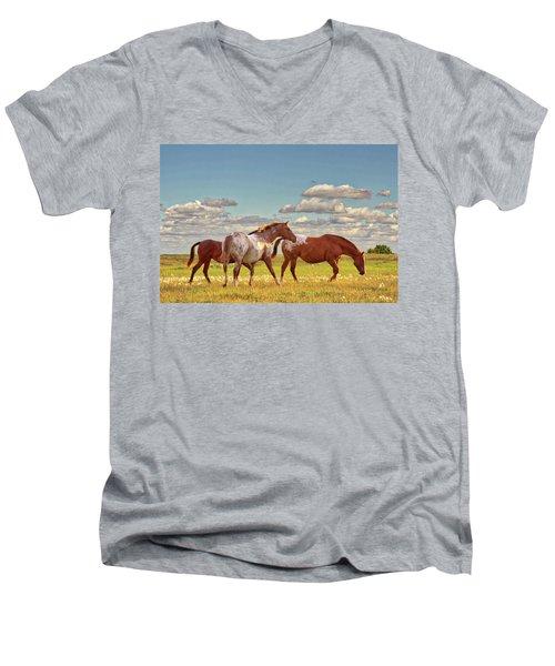Party Of Three Men's V-Neck T-Shirt