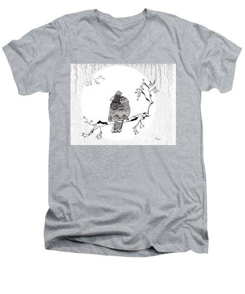 Party Time In Birdville Men's V-Neck T-Shirt