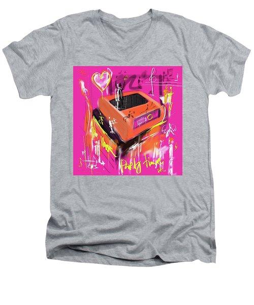 Party Time  Men's V-Neck T-Shirt by Sladjana Lazarevic