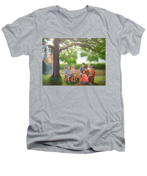 Pass It On - Baseball Men's V-Neck T-Shirt