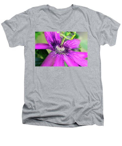 Passion Flower  Men's V-Neck T-Shirt