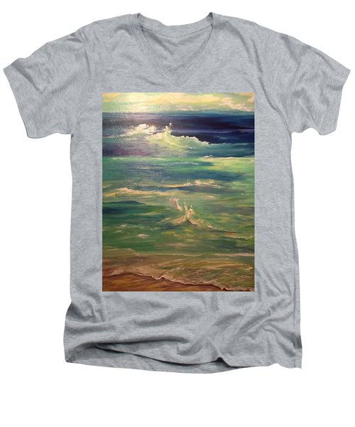Passion Men's V-Neck T-Shirt by Heather Roddy