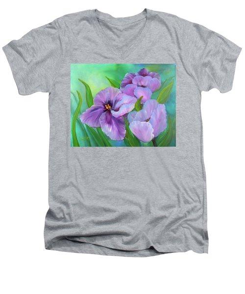 Passionate Tulips Men's V-Neck T-Shirt