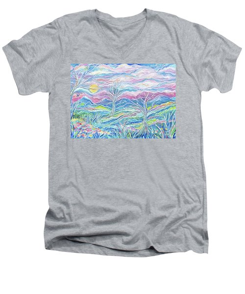 Pastel Country Men's V-Neck T-Shirt