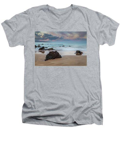 Pastel Hawaii Sunrise Men's V-Neck T-Shirt