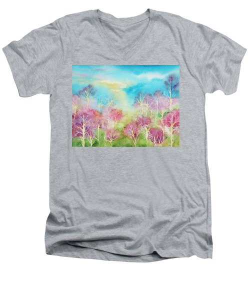 Pastel Spring Men's V-Neck T-Shirt