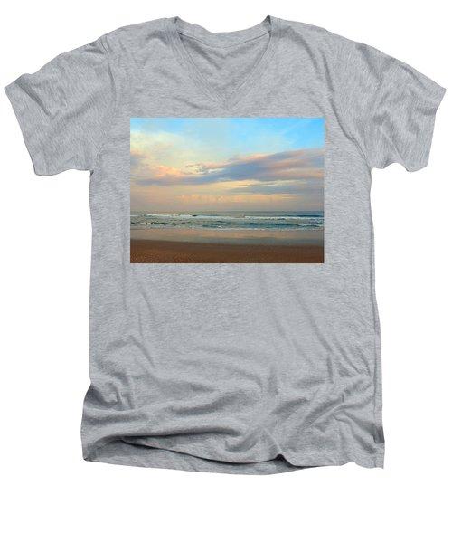 Pastel Sunrise Men's V-Neck T-Shirt by Betty Buller Whitehead