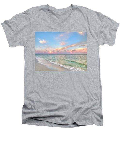 Pastel Sunset On Sanibel Island Men's V-Neck T-Shirt