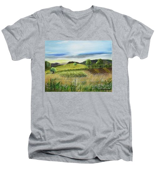 Pasture Love At Chateau Meichtry - Ellijay Ga Men's V-Neck T-Shirt