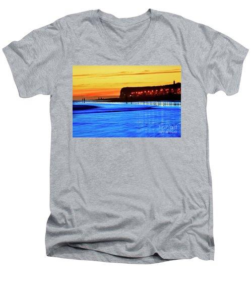 Patagonia Beach. Men's V-Neck T-Shirt
