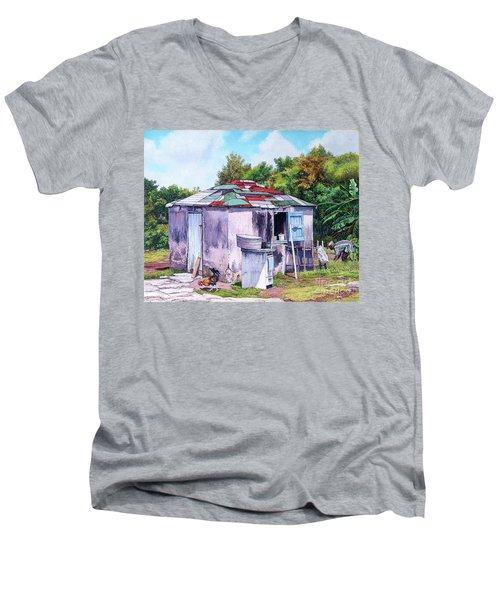 Cat Island Patch Men's V-Neck T-Shirt