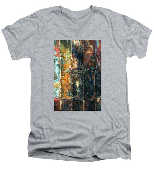 Patchworks 2 Men's V-Neck T-Shirt