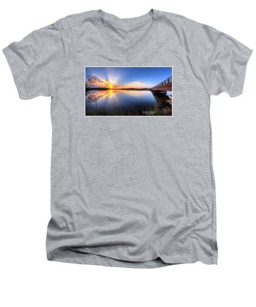 Patcong Rays Men's V-Neck T-Shirt