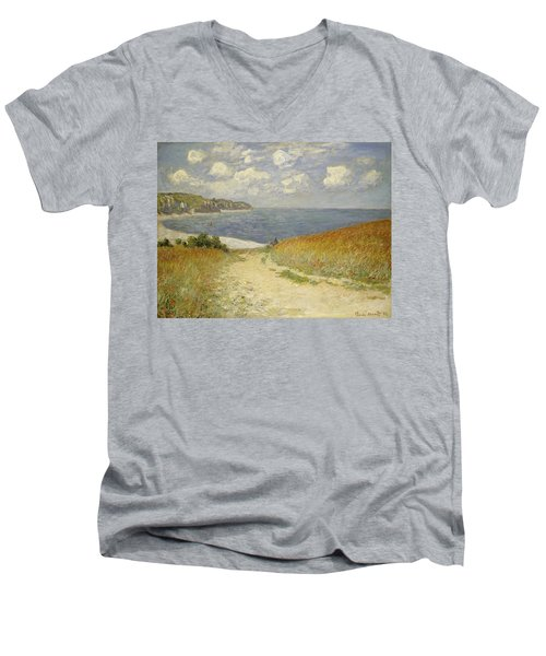 Path In The Wheat At Pourville Men's V-Neck T-Shirt