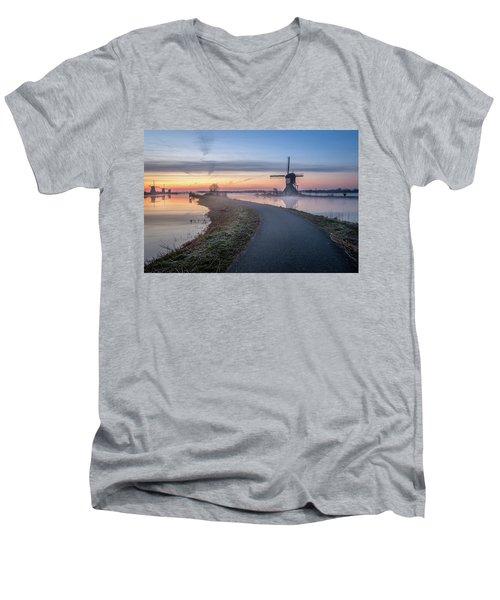 Path Through Windmill City Men's V-Neck T-Shirt