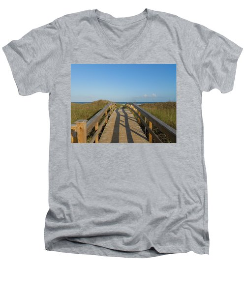 Path To Happiness Men's V-Neck T-Shirt