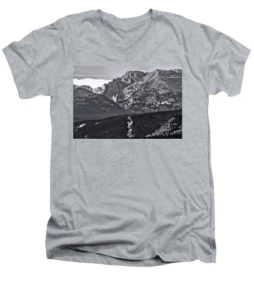 Men's V-Neck T-Shirt featuring the photograph Path To Longs Peak by Dan Sproul