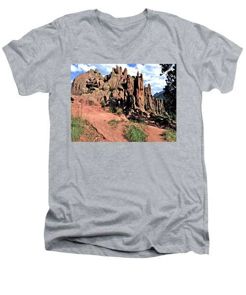 Path To Red Rocks Men's V-Neck T-Shirt