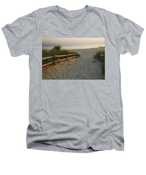 Path To The Sea Men's V-Neck T-Shirt