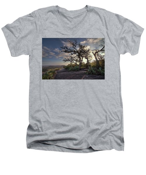 Pathway On Top Of Enchanted Rock Men's V-Neck T-Shirt