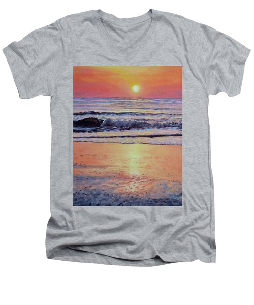 Pathway To Dawn - Outer Banks Sunrise Men's V-Neck T-Shirt