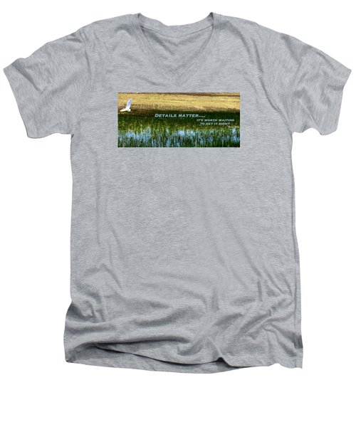 Men's V-Neck T-Shirt featuring the photograph Patience  by David Norman
