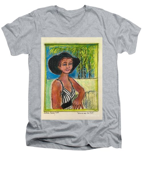 Patricia And Her Hat Men's V-Neck T-Shirt