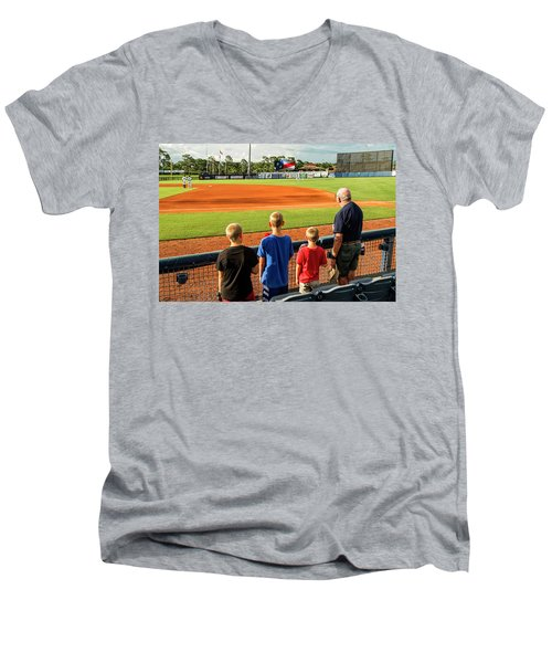 Patriotism Is Taught Men's V-Neck T-Shirt