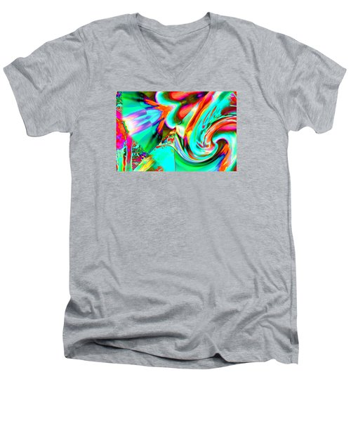 Pattern 307 _ Rich Men's V-Neck T-Shirt