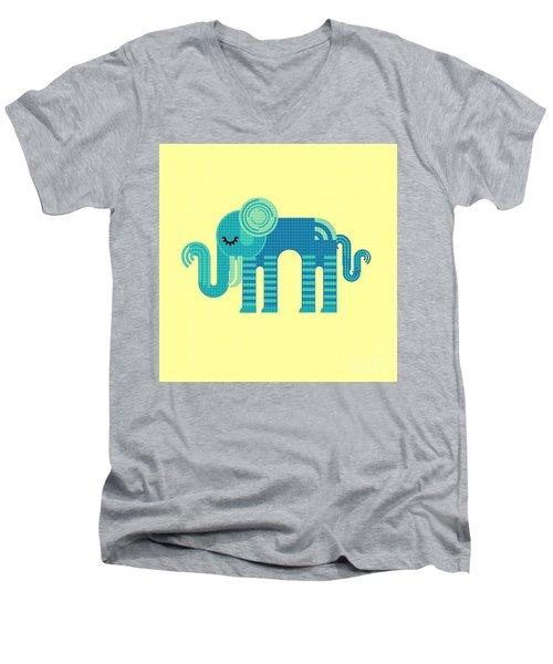 Pattern Elephant Men's V-Neck T-Shirt