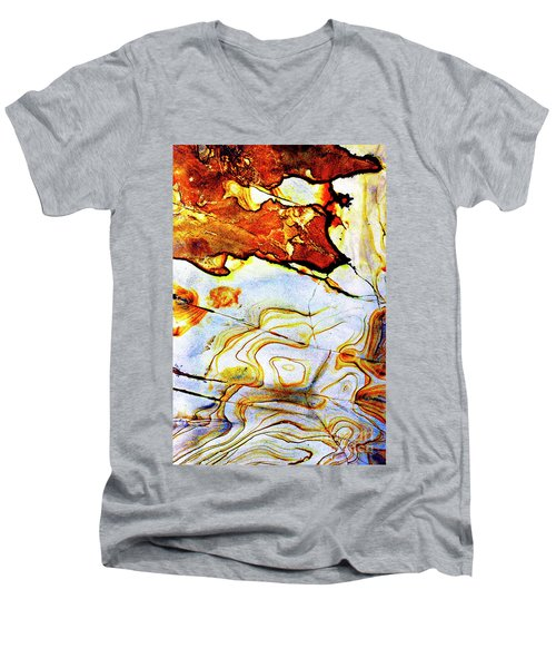 Men's V-Neck T-Shirt featuring the photograph Patterns In Stone - 201 by Paul W Faust - Impressions of Light