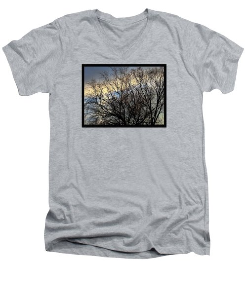 Patterns In The Sky Men's V-Neck T-Shirt by Frank J Casella