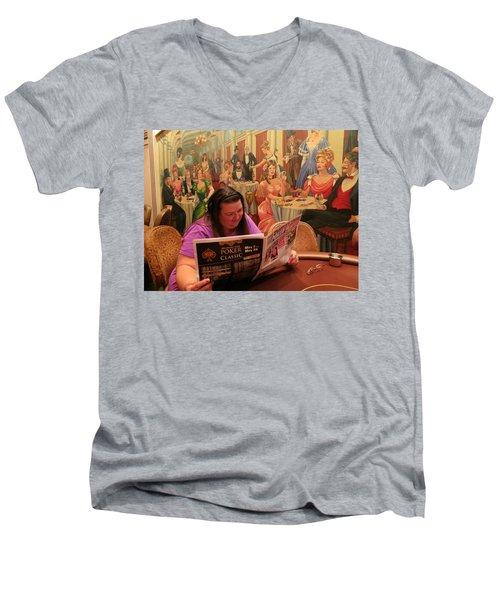 Pattie Poker Men's V-Neck T-Shirt