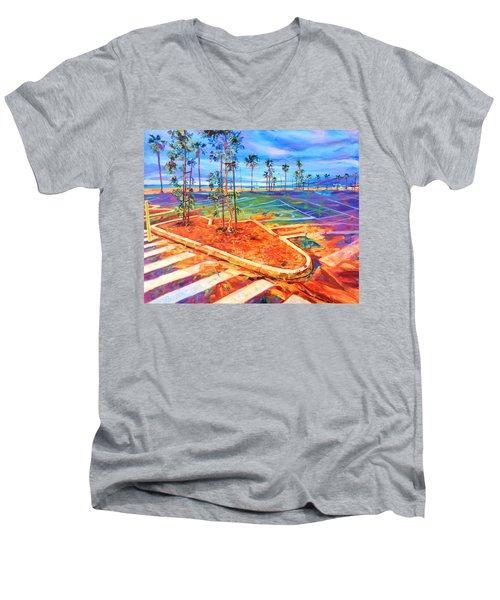 Paved Paradise Men's V-Neck T-Shirt by Bonnie Lambert