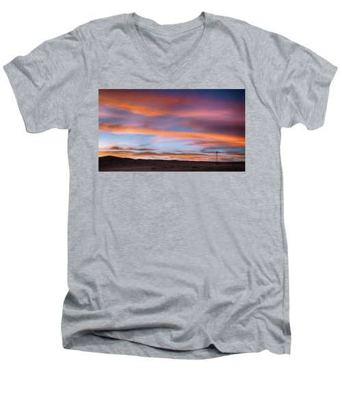 Pawnee Sunset Men's V-Neck T-Shirt