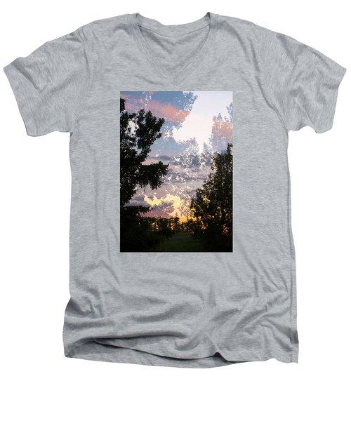Paynotn Sunset Men's V-Neck T-Shirt by Ellery Russell