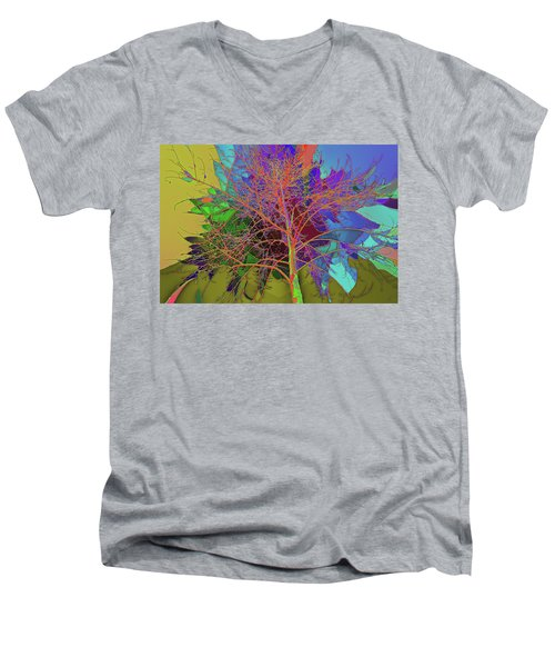 P C C Elm In The Wait Of Bloom Men's V-Neck T-Shirt